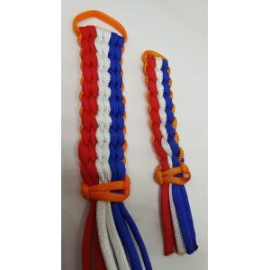 mini 6 strand wide round sleutelhanger