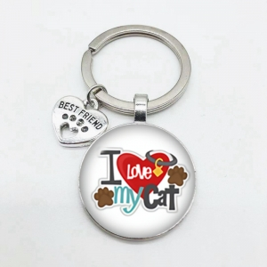 """I LOVE MY CAT"" Sleutelhanger"